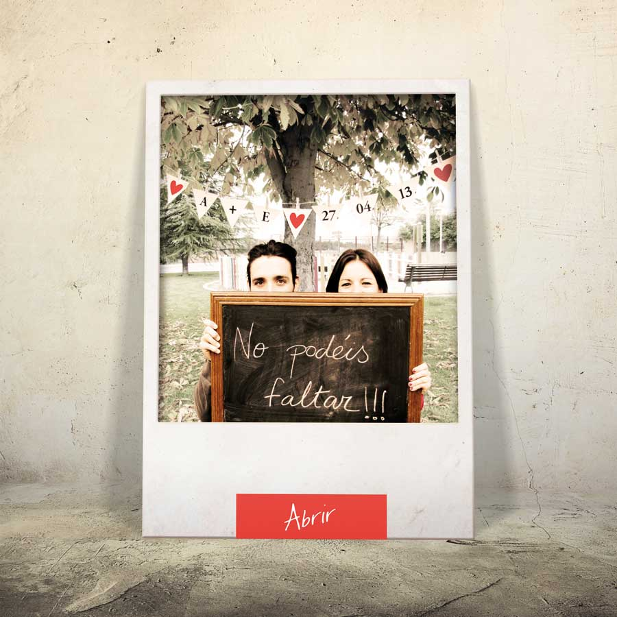 Elena's wedding card