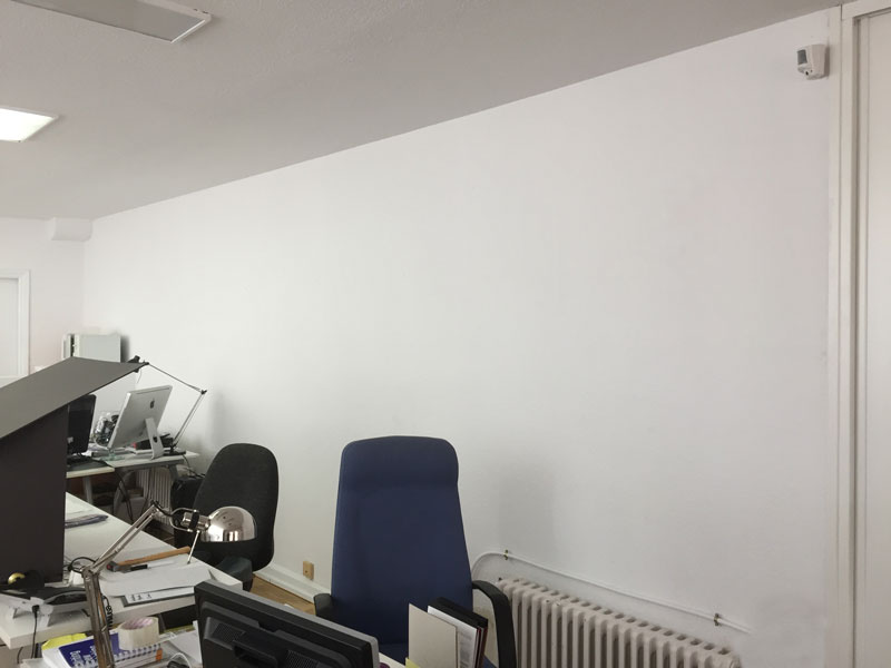 The boring white wall